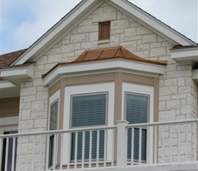 Copper roof on dormer